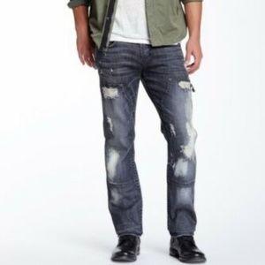 NWOT $350 HUDSON Jeans Byron Straight Leg sz 36